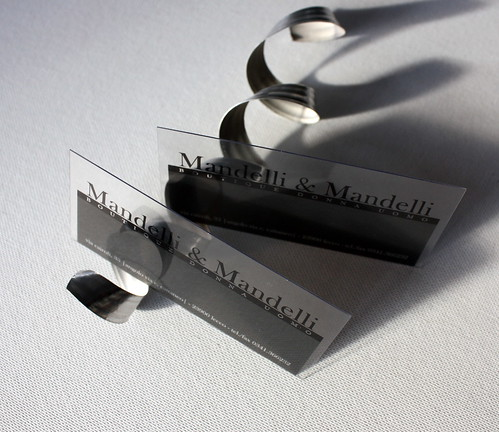 clear plastic business cards Mandelli & Mandelli | by Pinkograf by Pinkard
