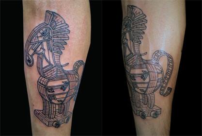 Tatuaje Caballo tatuaje caballo troya   vallekas tattoo zone madrid spain   flickr