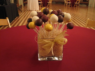 Brown, Yellow, and White Cake Pops | by Sweet Lauren Cakes