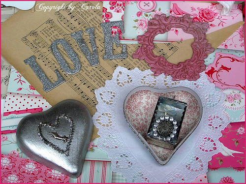 Creating pretty Valentines | by Boxwoodcottage