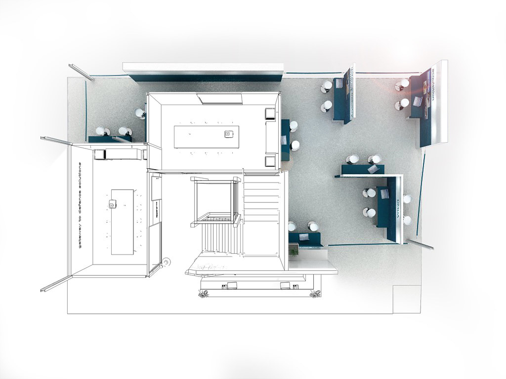 Exhibition Stand Drawing : Armscor exhibition stand display area xzibit i experiential