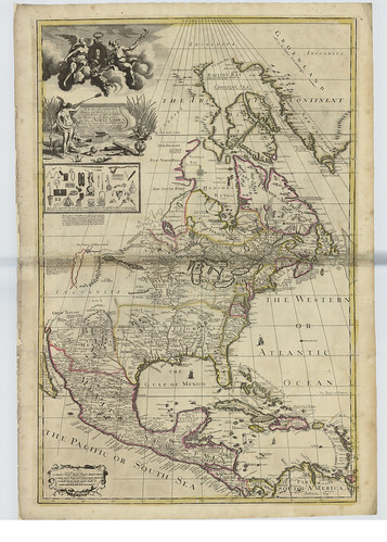 Map of North America by George Willdey , 1715 | by National Library of Scotland