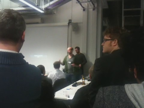 Jet Sounds - Vincent Akkermans' audio enhanced paper aeroplane at #dorkbotlondon76