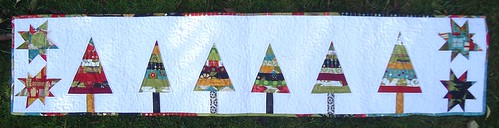 Finished Christmas table runner | by patchwork queen