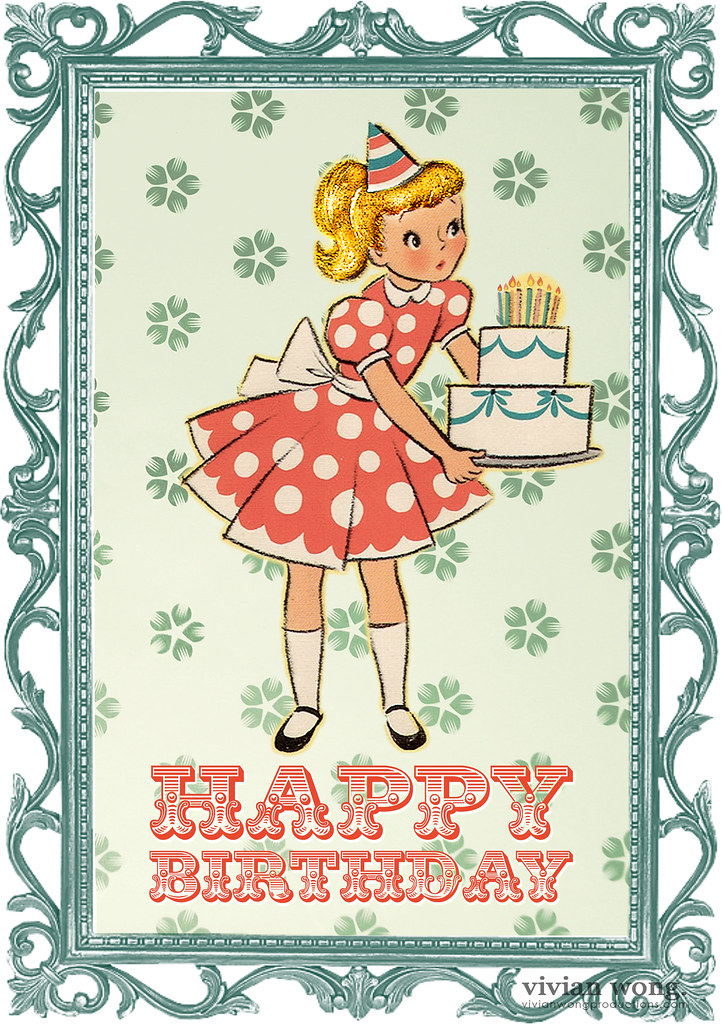 retro happy birthday card  cute retro happy birthday card  flickr, Birthday card