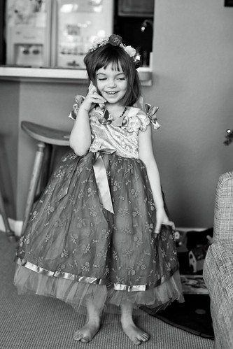 Chatting it up in her play dress. | by Fluttering By