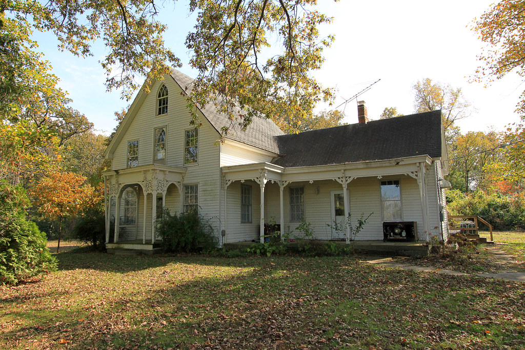Unknown Gothic House In Rural Wabash County IL