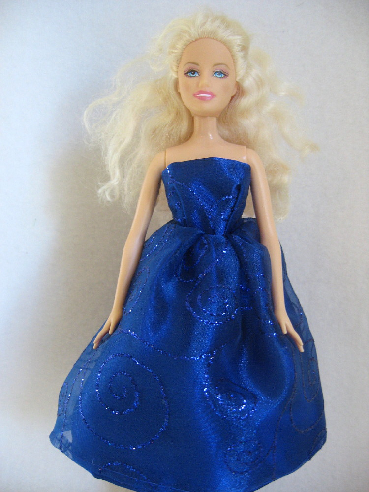 Barbie Doll Dress Deep Blue Satin | Linda Simons | Flickr
