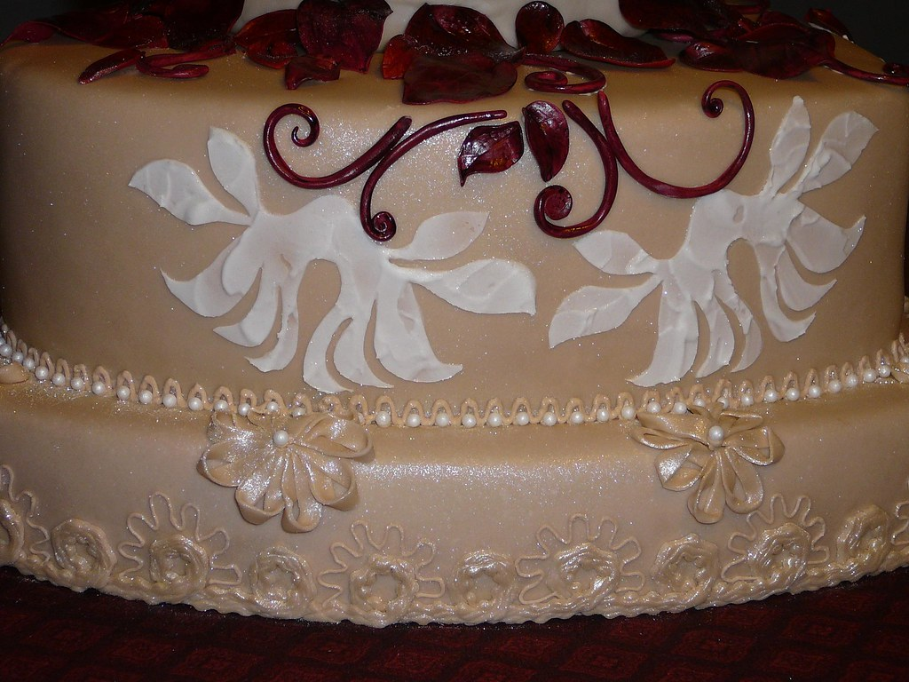 Detail Close Up Of New Year S Wedding Cake Soutache Ribbo Flickr