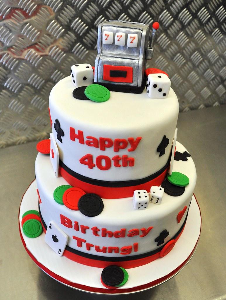 Casino Birthday Cake Chocolate Cake With Chocolate Ganache Flickr