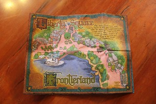 Liberty Square and Frontierland map | by insidethemagic