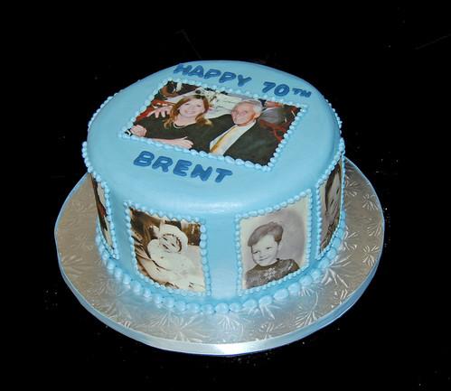 Photo Collage 70th Birthday Cake Dana Brown Flickr