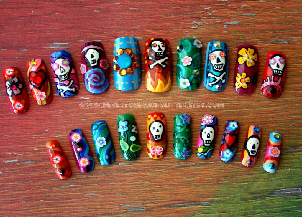 Dia De Los Muertos Nail Art 3   Nail art inspired by the Mex…   Flickr