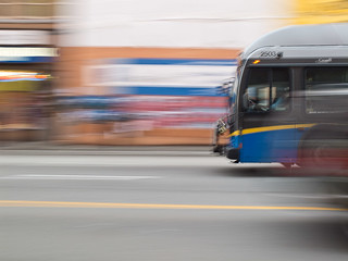 I love blurry transit but I prefer bicycles :-) vancouver-20120126-S0298393.jpg | by roland