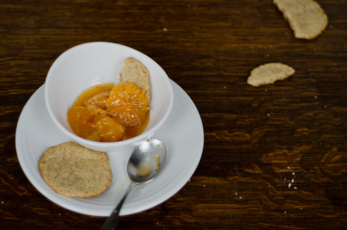 Clementines in Syrup with Maple Walnut Wafers | by art and lemons