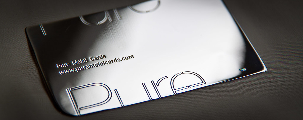 Sterling silver business card pure metal cards flickr sterling silver business card by pure metal cards colourmoves