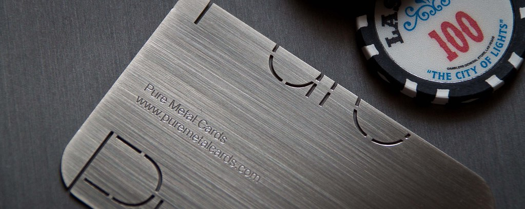 Brushed stainless steel metal business card by pure metal flickr brushed stainless steel metal business card by pure metal cards by pure metal cards colourmoves