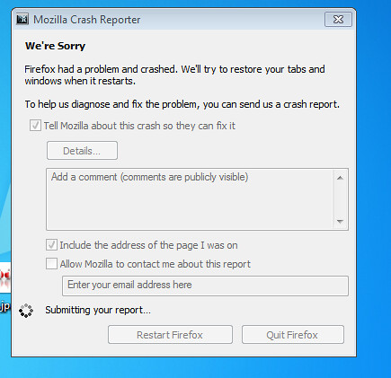 Firefox crash report | by :: Wendy ::