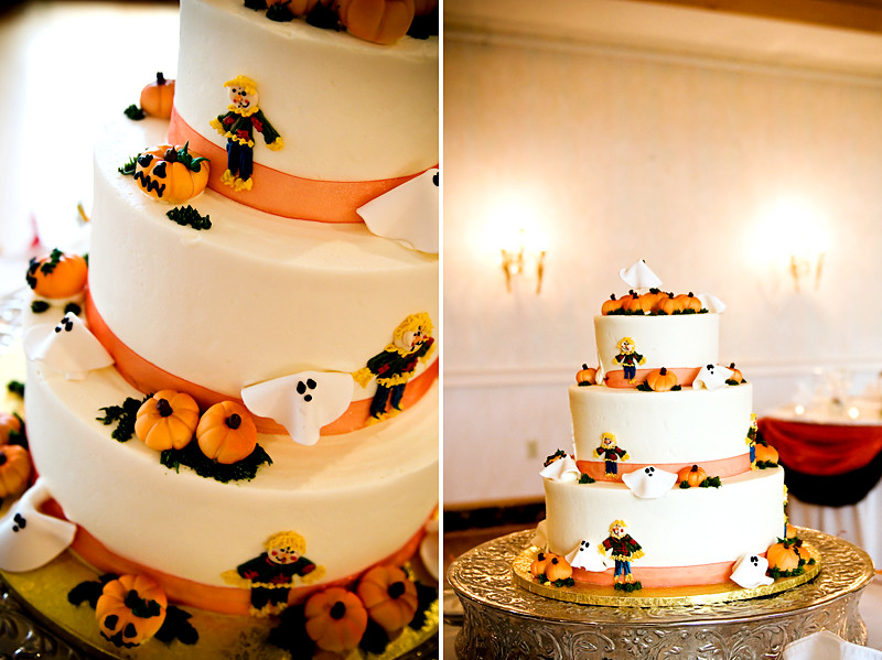 NH Halloween Wedding Cake | Handmade goblins and ghosts ador… | Flickr