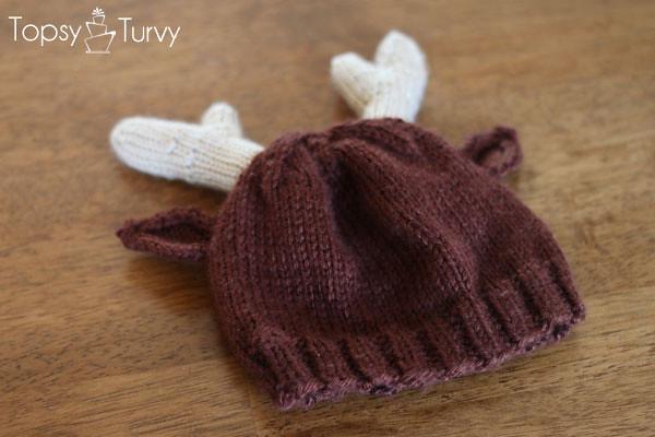 Reindeer Hat Knit Pattern Ribbed Imtopsyturvyknit Rei Flickr