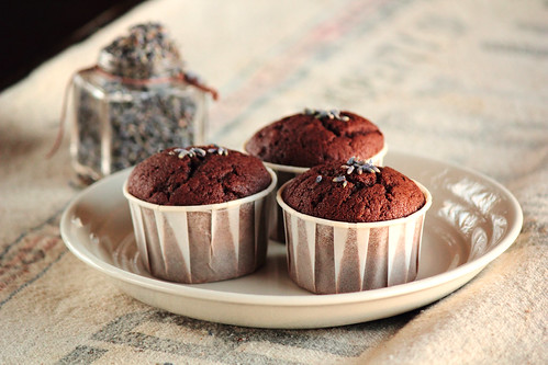 Chocolate Lavender Cupcakes | by pastryaffair