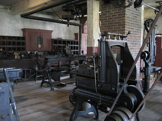 Wilkinson Mill Machine Shop Exhibit | by Slater Mill
