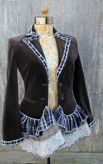 altered refashioned jacket | by Regina Moore
