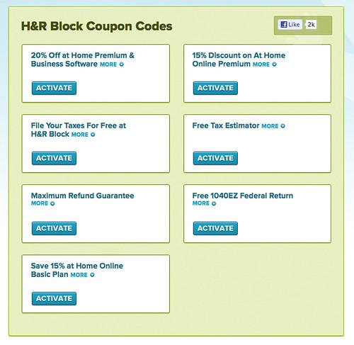 H&r block discount coupon