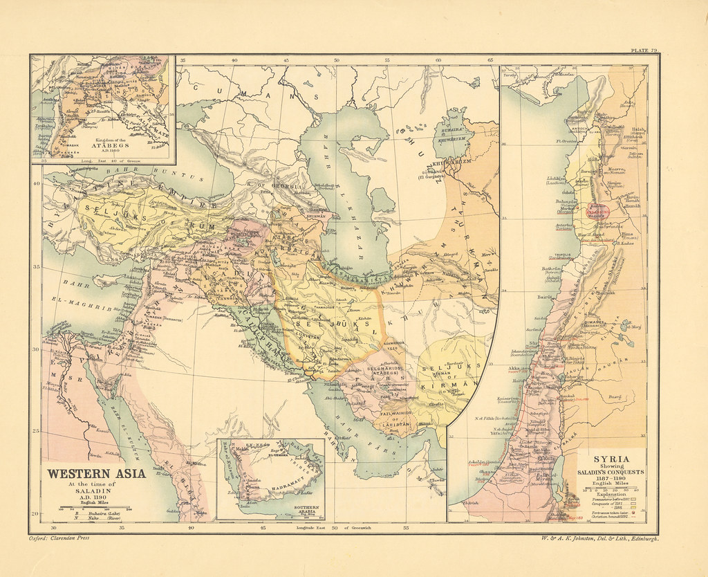 Map page of Section LXXIX Western Asia at the time of Sala… | Flickr