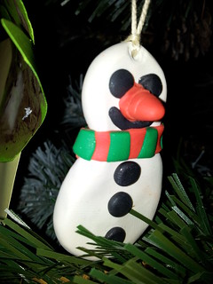 Sculpey snowman xmas tree ornament | by lilspikey