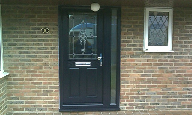 ... The Blue Front Door With Side Panel From Fusion Composite Doors | By  Fusion Doors, The