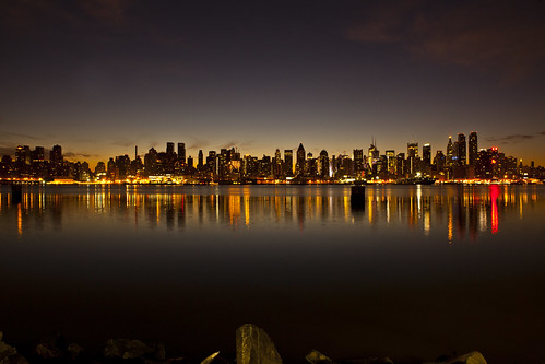 The New York City skyline just before sunrise December 17, 2011 | by Anthony Quintano