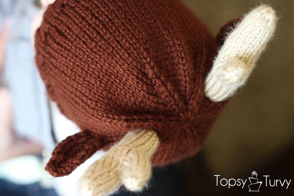Reindeer Hat Knit Pattern Imtopsyturvyknit Reindeer B Flickr