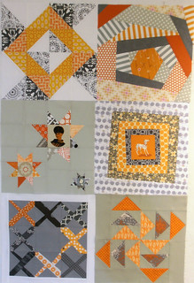 4x5 modern quilt bee - Q4, Hive 1 blocks received! | by aquilterstable