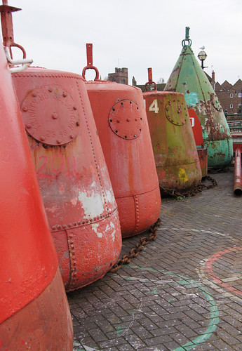 Gull and buoys - King's Lynn | by Neil Pulling