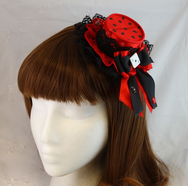 Red and Black Card Hat 1  77b048b9181