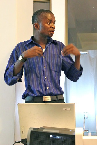 Mr Msilikale Msilanga sharing the Tandale community mapping project | by TANZICT