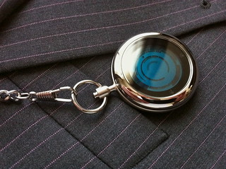 Kisai Rogue Touch Pocket Watch Blue LCD | by Tokyoflash Japan