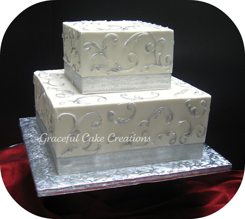 Square Wedding Cakes Fall
