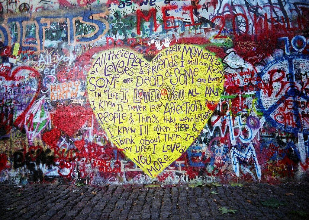 The John Lennon Wall - Prague | Shit with my toy camera, the… | Flickr