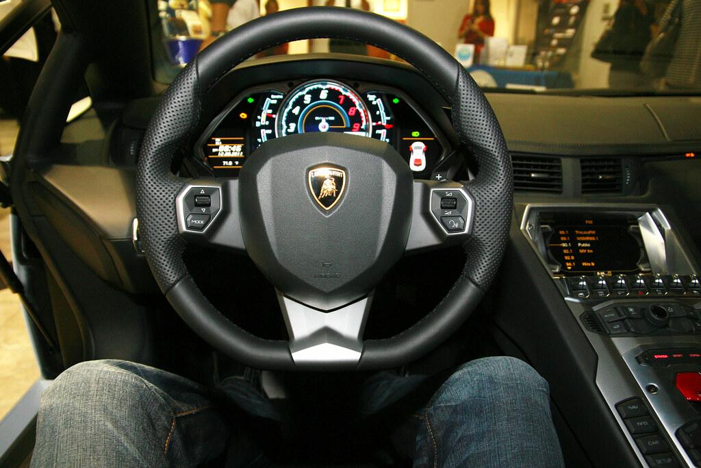 Lamborghini Aventador Interior | Inside view of the new 2012… | Flickr