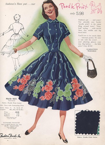 Fashion Frocks Style Card 1955 Dress With Poodle Bordered Flickr