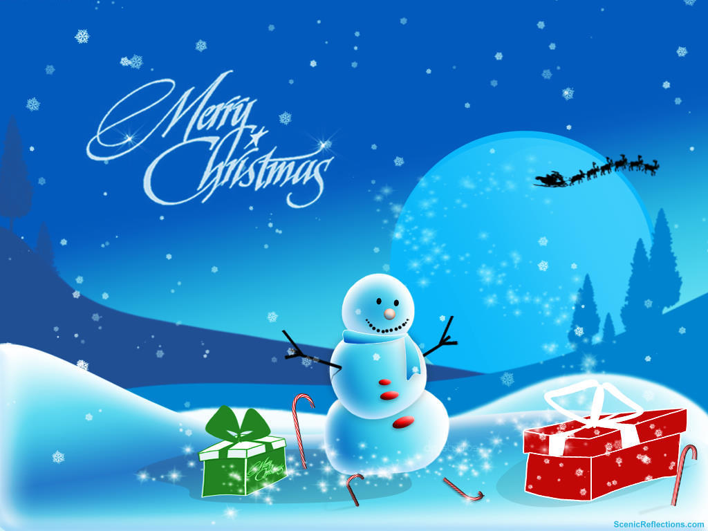christmas snowman wallpaper - free christmas screensavers … | flickr