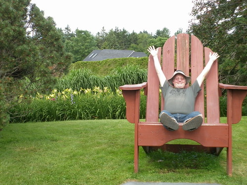 F110715 Kingsbrae Garden, Fred in chair 3 | by horticultural art