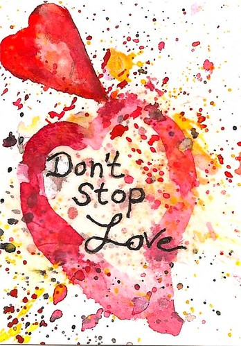 Don't stop Love - ACEO - Original Watercolor | by sixsisters