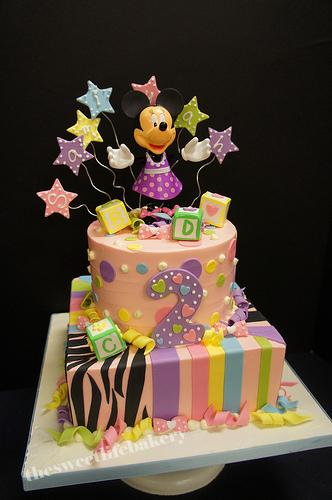 Minnie Themed Birthday Cake with Zebra Print Minnie Mouse Flickr