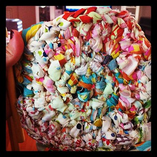 Rag rug progress. Looks a little rough. | by craftapalooza