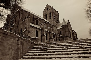 Auvers Black and snow Eglise | by  Philippe L PhotoGraphy 