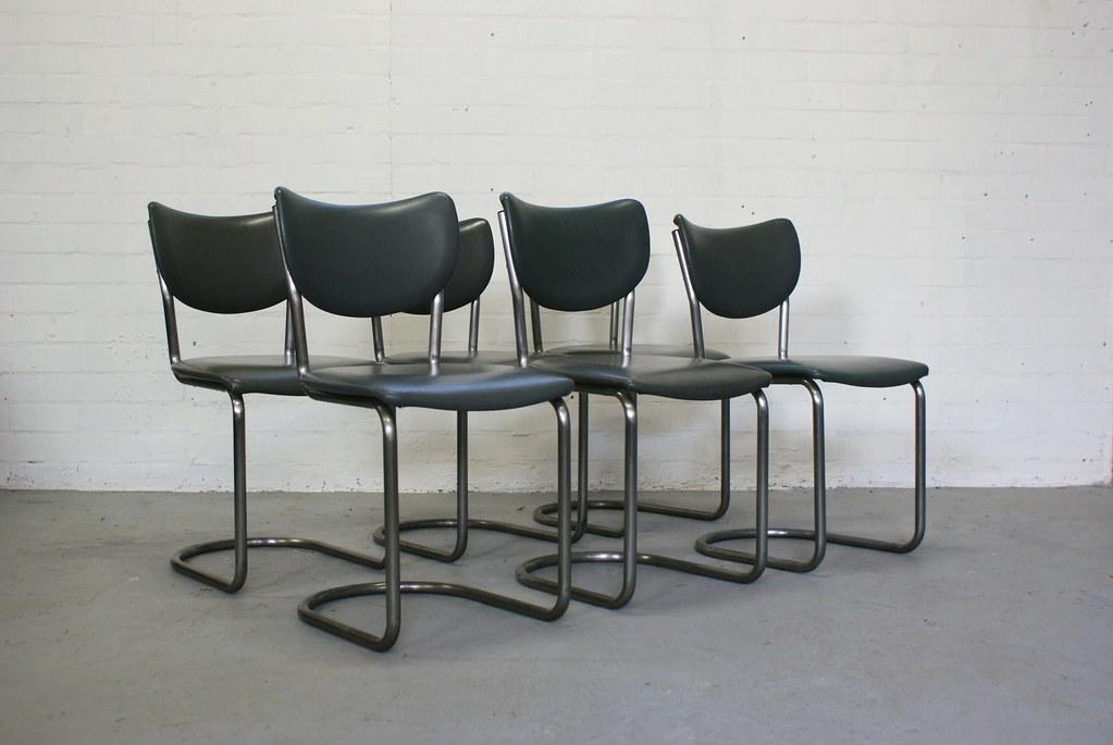 Vintage buisframe stoelen de wit industrieel jaren u flickr