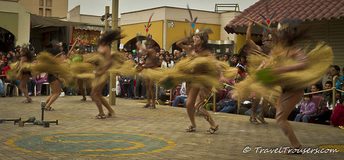 Swirling Grass Skirts of the Traditional Dancers in Lima | by traveltrousers.com